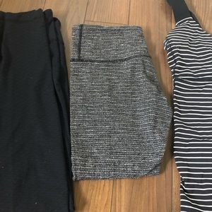 3 LULULEMON TIGHTS AND SIZE 8 TOP